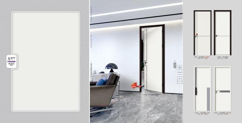 2020干漆门D-6509米兰白肤哑+黑钛金